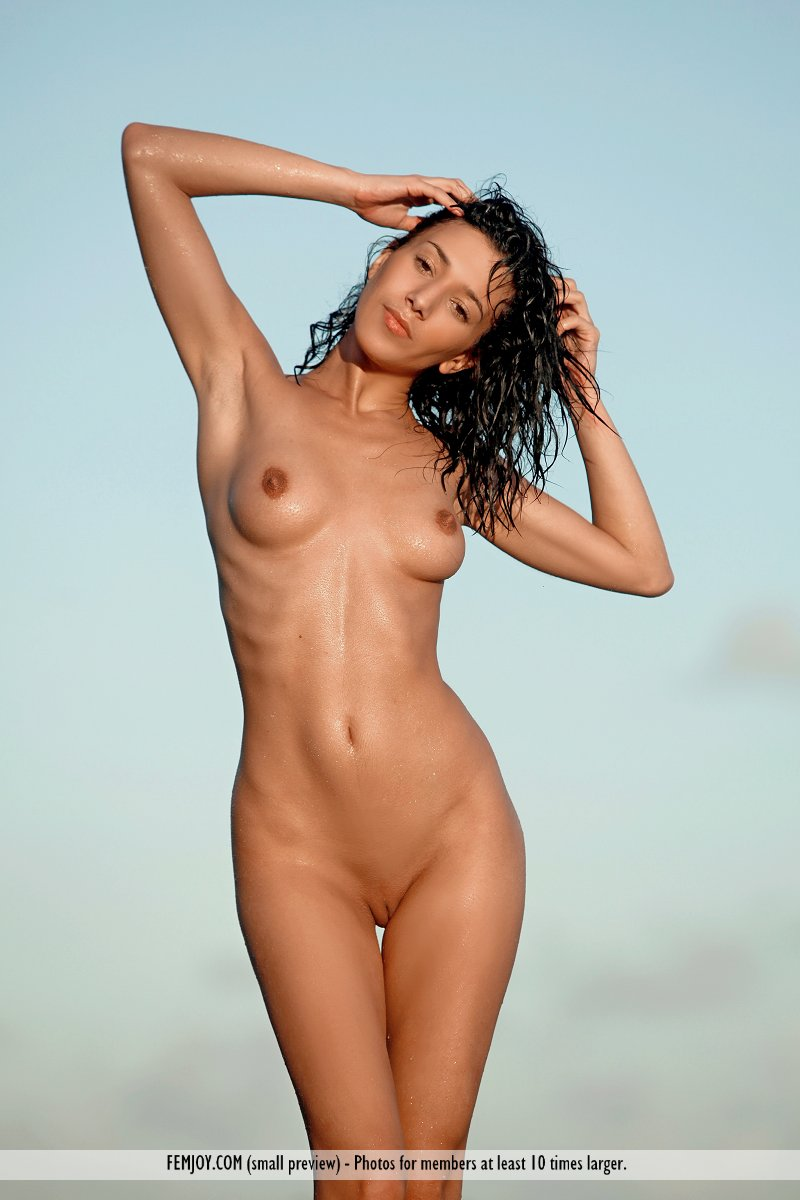 Variant black hair on the nude beach seems