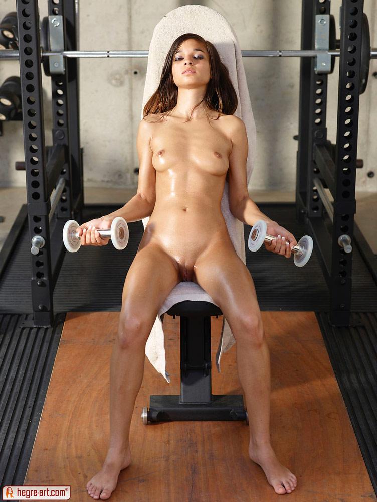 What Teen girl exercising naked still that?